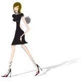 Walking woman Stock Images