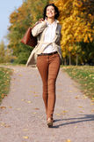 Walking woman Stock Photos