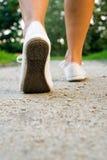 Walking Woman In Park Royalty Free Stock Photos