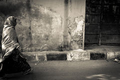 Walking woman of Jaipur, India Stock Images