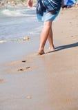 Walking woman Stock Image