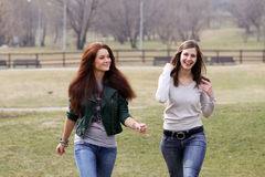 Walking Women Royalty Free Stock Photos