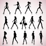 Walking women Stock Image