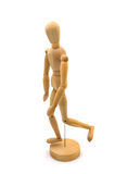Walking wooden doll Stock Photography