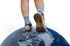 Walking on the world Royalty Free Stock Images