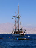 Walking yacht. Red sea, Eilat, Israel Royalty Free Stock Images
