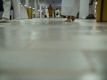Walking of Yom Kippur Wearing White. In The temple Royalty Free Stock Photo