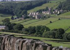 Walking on yorkshire moors. Royalty Free Stock Images