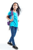 Walking young asian girl Stock Photography