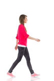 Walking young woman Stock Photography