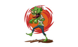 Walking Zombie. Scary zombie walking with clothes in tatters Stock Photography