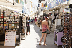 Walking zone in Ibiza Town Royalty Free Stock Photo
