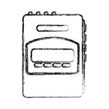 Walkman cassette player icon Royalty Free Stock Photo