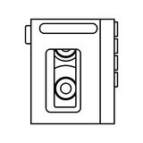 Walkman cassette player icon Stock Photos