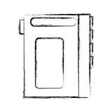 Walkman cassette player icon Royalty Free Stock Image
