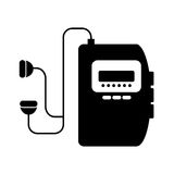 Walkman cassette player icon Stock Photography
