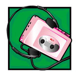 Walkman clip art Royalty Free Stock Photo