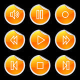 Walkman icons Stock Image