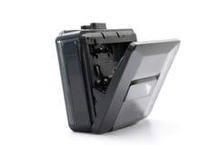 Walkman. Old black walkman isolated on white background Royalty Free Stock Image