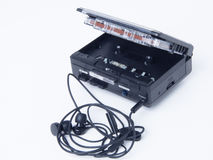 Walkman. Retro cassette player in portable size, good for cassette in the old day Stock Photo