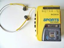 Walkman. Retro yellow walkman Stock Photos