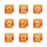 Walkman web icons Stock Photography