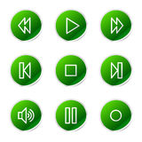 Walkman web icons Royalty Free Stock Photo