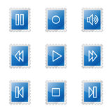 Walkman web icons Royalty Free Stock Photography