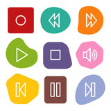 Walkman web icons, colour spots series Royalty Free Stock Images
