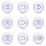 Walkman web icons, glossy pearl series Royalty Free Stock Images