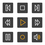 Walkman web icons, grey buttons series Stock Image