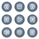 Walkman web icons, mineral circle buttons series vector illustration