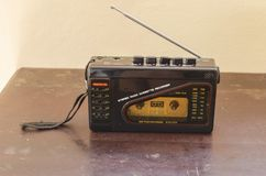 Walkmanradio en Cassettespeler royalty-vrije stock afbeelding