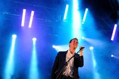 The Walkmen (band) performs at Arc de Triomf for free Royalty Free Stock Images