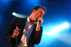 The Walkmen band performs at Arc de Triomf for free Royalty Free Stock Image
