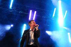 The Walkmen band performs at Arc de Triomf for free Stock Images
