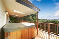Walkout deck with jacuzzi Stock Photo
