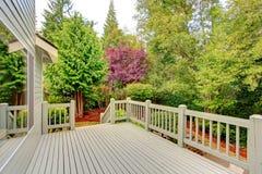 Walkout deck overlooking green belt Stock Photography