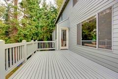 Walkout deck overlooking green belt Stock Photos
