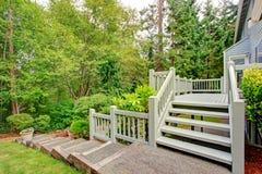 Walkout deck overlooking green belt Royalty Free Stock Photos