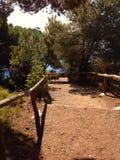 Walkpath в острове Эльбы, Италии Стоковые Фотографии RF