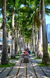 Walkpath bei Marina Bay, Singapur Stockfotografie