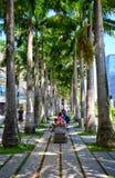 Walkpath em Marina Bay, Singapura Fotografia de Stock