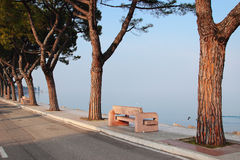 Walkpath at the lake Garda, Italy Stock Photos