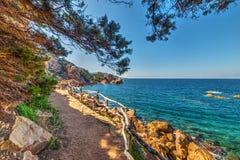 Walkpath by the shore in Costa Paradiso. Sardinia, Italy Stock Photo