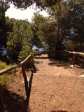 Walkpath w Elba wyspie, Włochy Zdjęcia Royalty Free