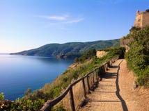 Walkpath w Porto Azzurro, Włochy Fotografia Royalty Free