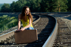 Walks by rail Royalty Free Stock Images