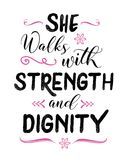 She walks with Strength and Dignity Stock Image