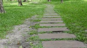 Walkwalk au parc public en Thaïlande Image libre de droits